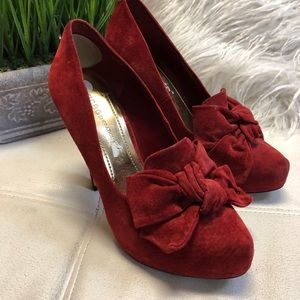 BCBGeneration Red Leather/suede Pumps